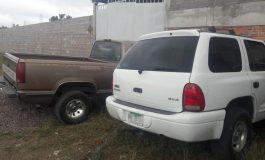 Recuperan dos camionetas con reporte de robo