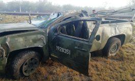 Militares se accidentan en la súper carretera San Luis- Rioverde, un muerto y cuatro lesionados