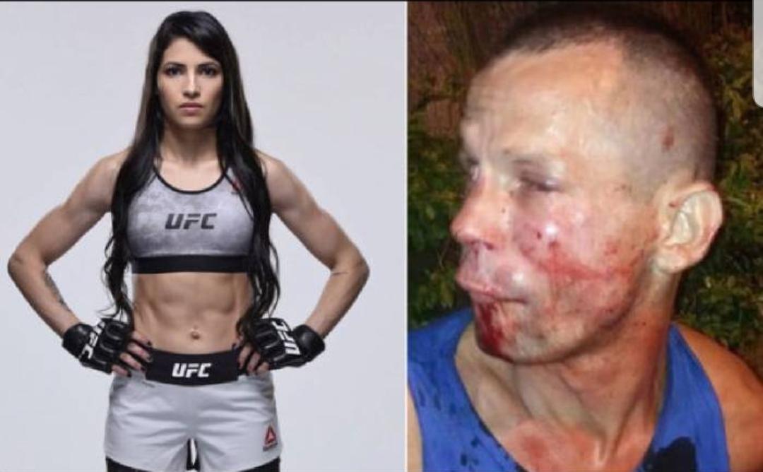 Luchadora brasileña propina golpiza a sujeto que pretendía asaltarla.