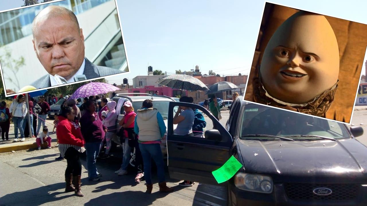 """Vecinos de Los Silos bloquean vialidades por falta de agua y exigen que el """"Huevo"""" Purata se ponga a trabajar"""
