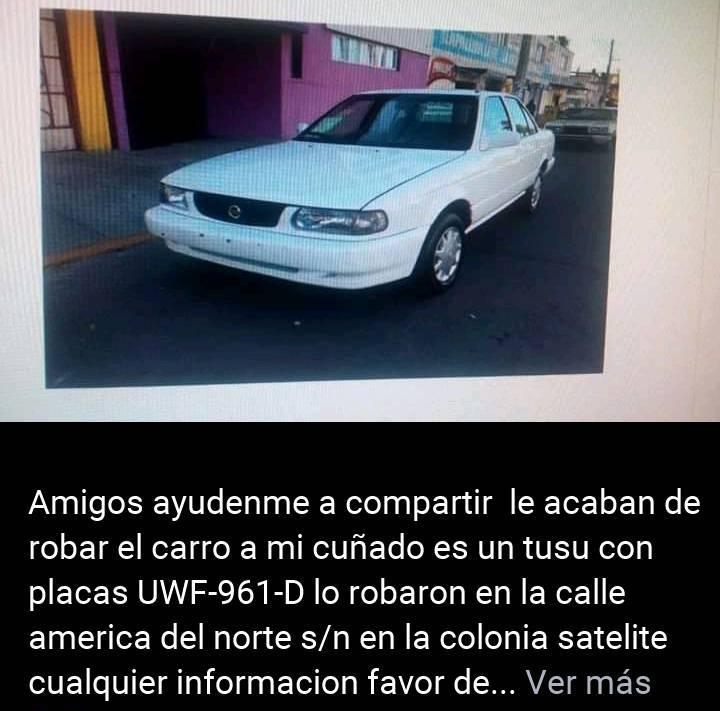 Frente a los ojos de un policía estatal se roban un vehículo en la Simón Díaz