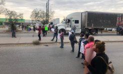 Protestan vecinos de Cactus por el abandono del Interapas
