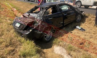 Mujer tiene aparatoso accidente sobre Carretera 57