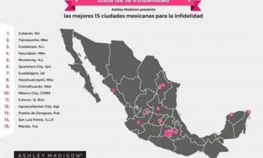 San Luis Potosí entre los primeros quince lugares del país con mayor número de infieles