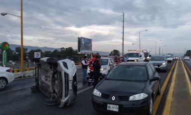 En estado de ebriedad ocasionó aparatoso accidente en Carretera a Rioverde
