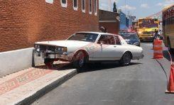 Conductor se infarta y termina impactado sobre Carretera a Rioverde en la zona del Distribuidor Juárez