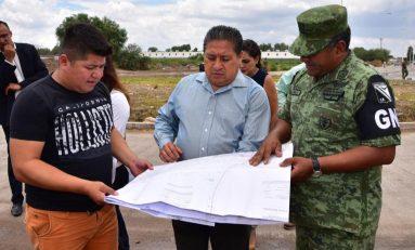 Alistan construcción de sede estatal de la Guardia Nacional en terreno donado por Soledad