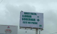 """""""ROMPAMOS EL SILENCIO NAVA NO PUDO"""" AMANECEN ESPECTACULARES EN LA CIUDAD CON CONSIGNAS CONTRA NAVA."""
