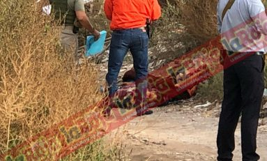 Ejecutan a masculino, lo embolsan y abandonan en un camino de terracería en la Colonia El Palmar