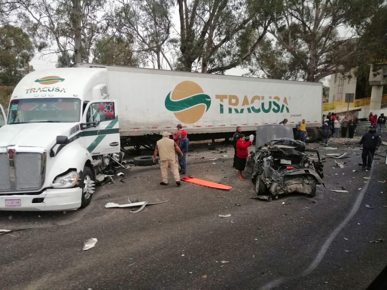 Se registra grave accidente en la Carretera 37 rumbo a Villa de Reyes