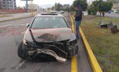 Andaba de parranda y choca su Honda Civic sobre la Matehuala