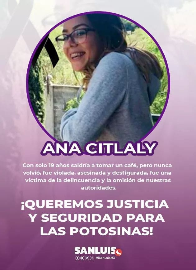 """#JUSTICIA PARA CITLALY  + """"QUE SEPAN QUE YA ESTAMOS HARTAS""""  FEMINICIDIO EN MATEHUALA GENERA RABIA E INDIGNACIÓN"""
