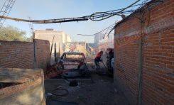 Localizan vehículos incendiados en Camino a Cerro de San Pedro