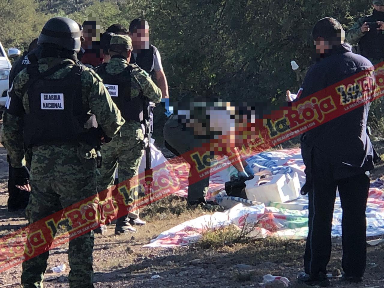 Localizan manta y hielera con pedazos de carne de res sobre la Carretera que conduce a Villa de Zaragoza
