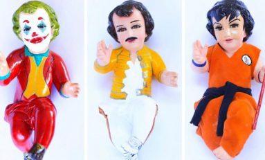 Venden niños Dios vestidos de Joker,  Superman, Freddie Mercury y más en redes sociales