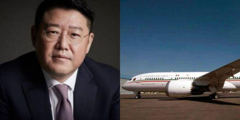 """Magnate coreano muestra interés en comprar el avión  presidencial mexicano """"de contado """""""