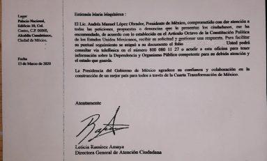 Trabajadores del COBACH 26 envían al Presidente y al Gobernador denuncia contra Marianela Villanueva