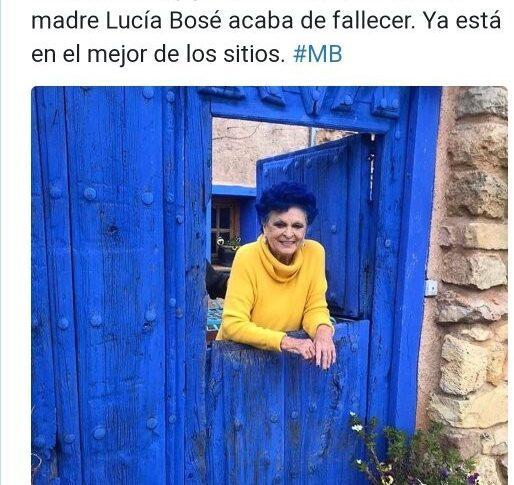 MUERE LA MADRE DE MIGUEL BOSE POR COVID-19