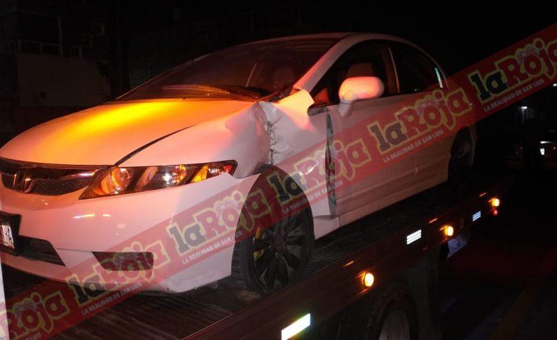 Conductor enfiestado ingresa en sentido contrario en Valentín Amador