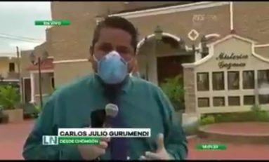 Periodista ecuatoriano rompe en llanto cuando hacía transmisión en vivo