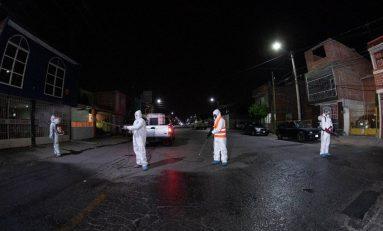Continúa la sanitización de espacios públicos en Soledad