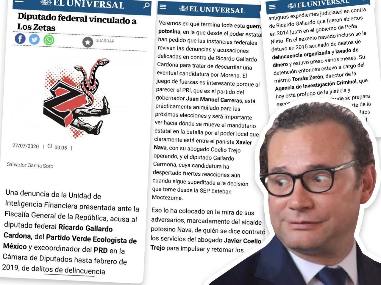 NAVA ORQUESTADOR DE CAMPAÑA NEGRA CONTRA GALLARDO REVELA COLUMNISTA DEL UNIVERSAL