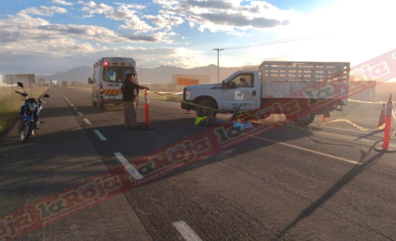 Masculino fallece atropellado en la súper carretera San Luis- Villa de Arriaga