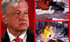 OPOSITORES DE AMLO, CAUSANTES DE LOS DESTROZOS EN CONGRESO, SEÑALAN