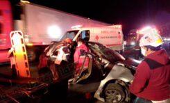Se registra aparatoso accidente en la Carretera 57