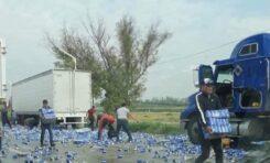 Rapiña de trailer cargado con cerveza