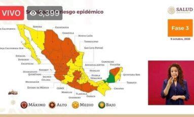 Es oficial a partir de este lunes San Luis Potosí pasa a semáforo amarillo: López Gatell