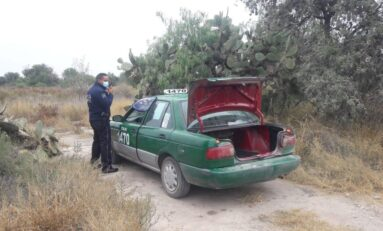 FUE ASEGURAN TAXI ABANDONADO EN CAMINO A PALMA DE LA CRUZ