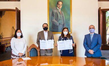 Firma convenio la UASLP con Tribunal Electoral de SLP