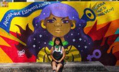 Realizan mural en la Zona Universitaria Poniente, en homenaje a estudiante víctima de feminicidio